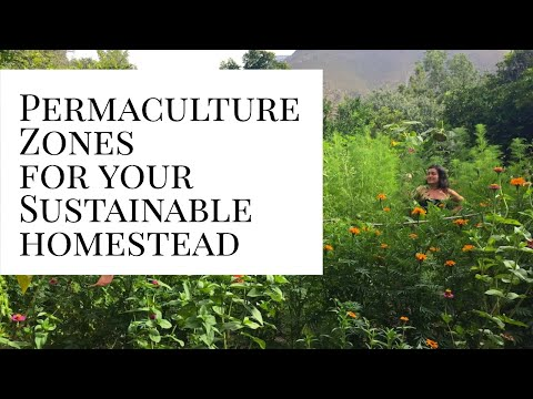 Zones in a permaculture system