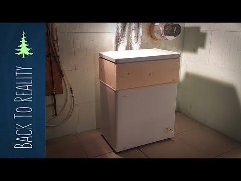 "Experiment: Mini ""Root Cellar"" from broken freezer (for storing potatoes)"