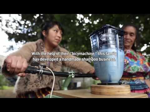 Pedal-powered machines created to help farming families in Guatemala