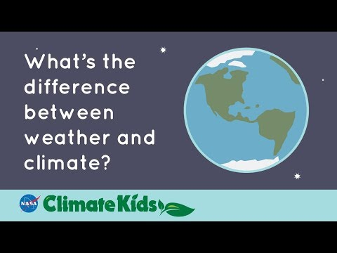 What's the difference between weather and climate?