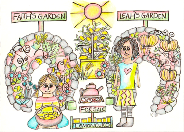 permaculture principles illustration by Kt Shepherd