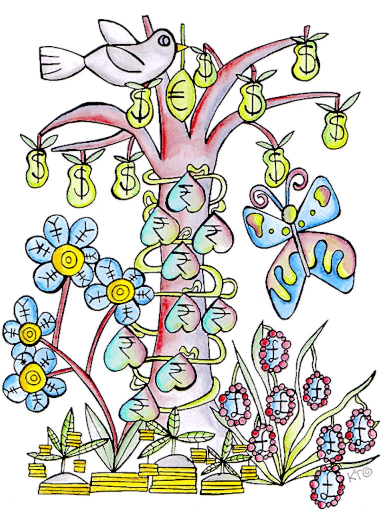 Fundraising tree illustration