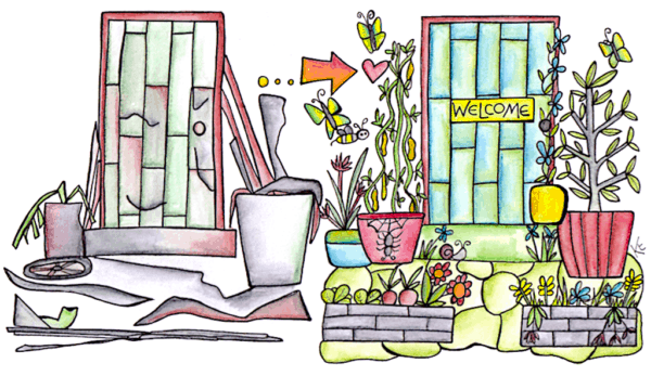 illustration showing importance of aesthetics in permaculture design