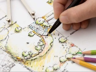 hand drawn garden design