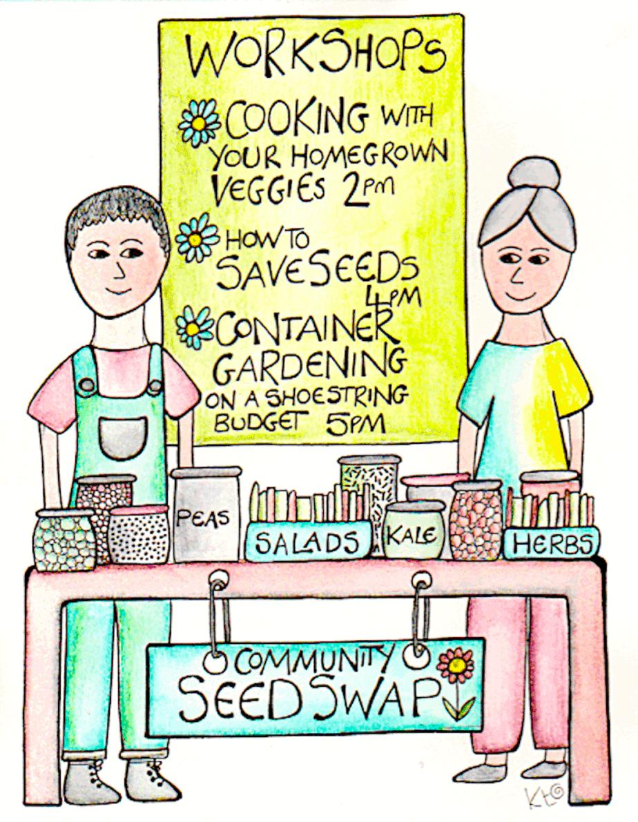 Seed Swap illustration by Katie Shepherd