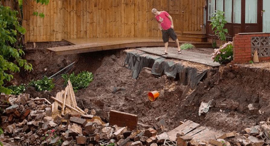 poorly planned earthworks leads to landslides