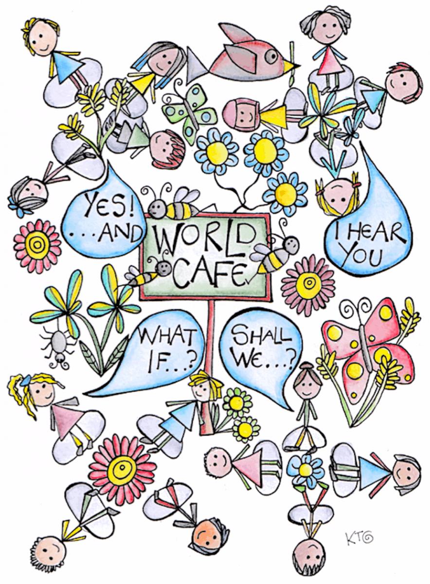 World Cafe art by Kt Shepherd