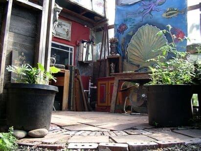 art studio in a greenhouse
