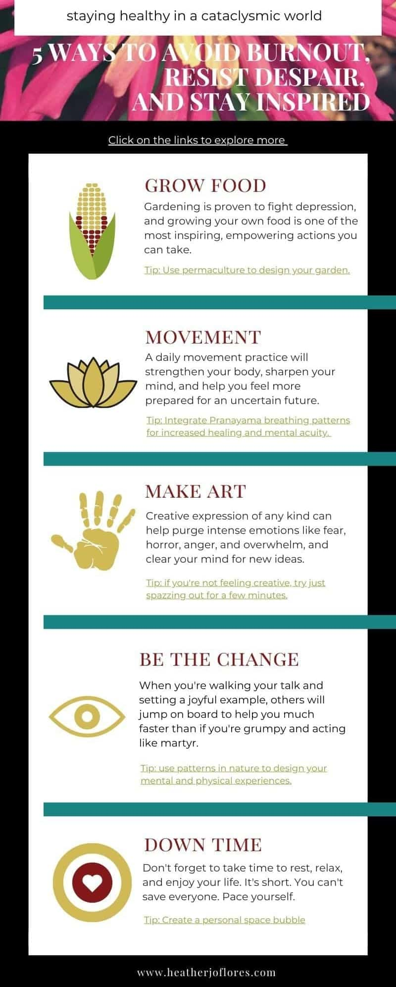 How-to-Avoid-Burnout infographic by Heather Jo Flores