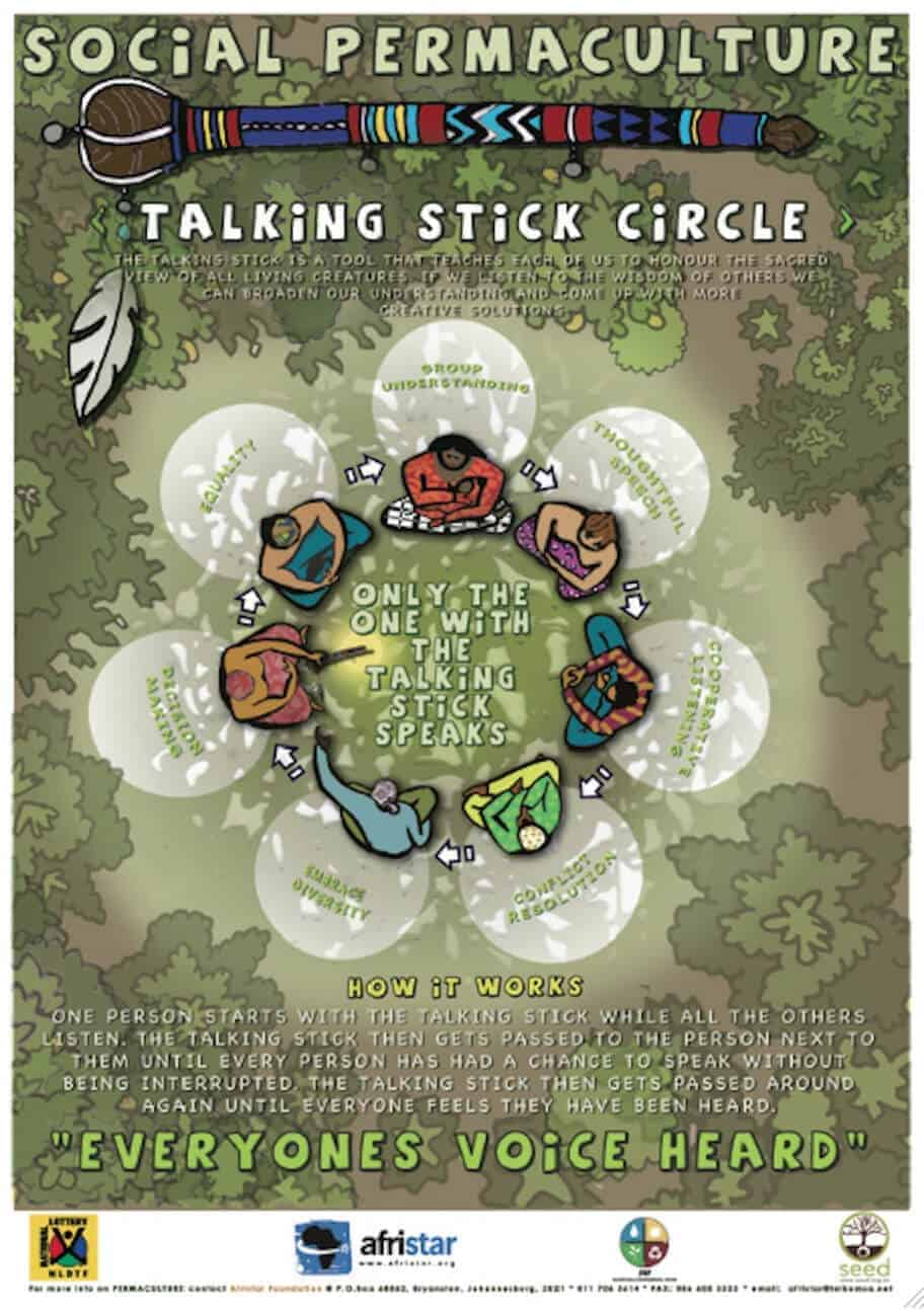 talking stick circle afristar poster