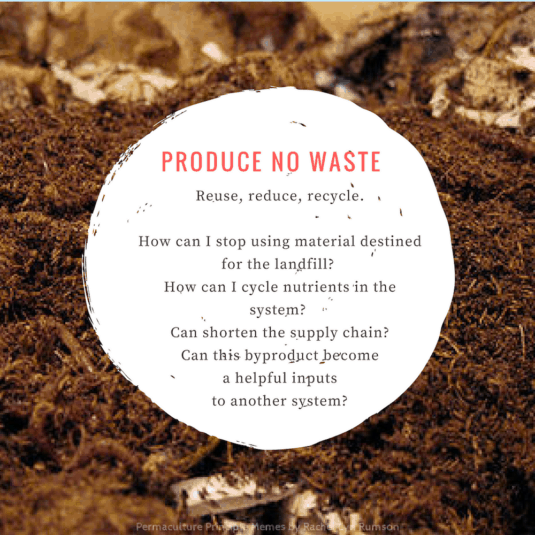 compost and mulch to produce no waste